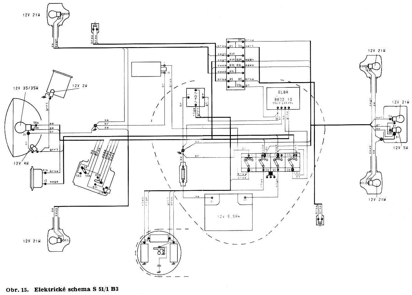 Schaltplan Simson S50